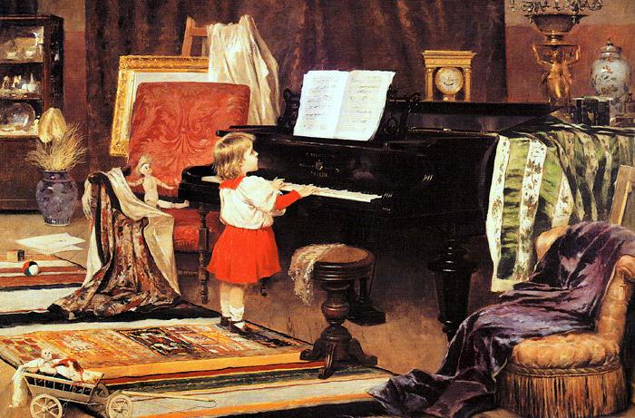 Aurélio de Figueiredo: Menina ao Piano, 1892.