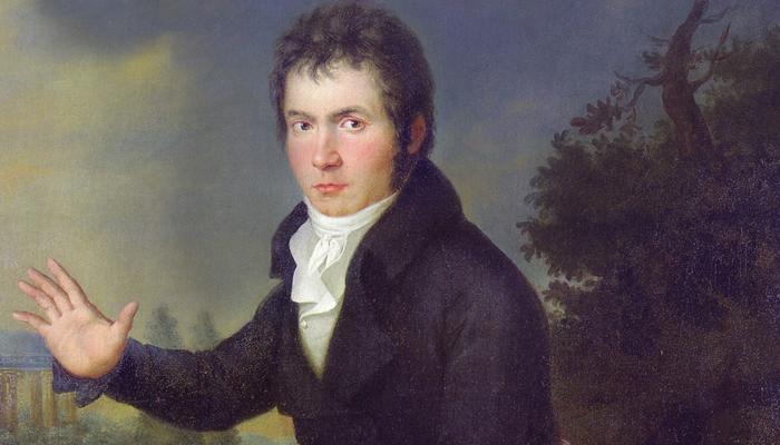 Joseph Willibrord Mähler: Ludwig van Beethoven (detail), 1804-5.