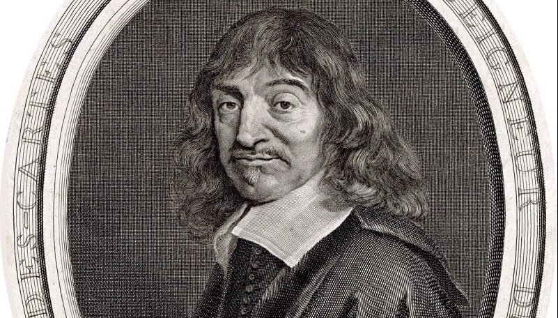 engraving of Descartes