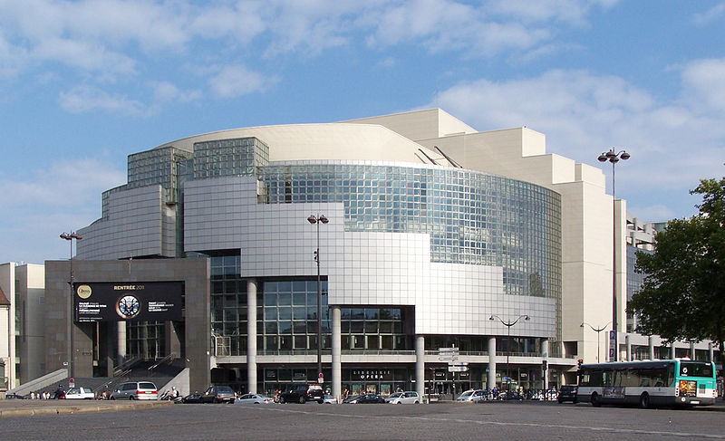 Opéra Bastille, Paris, designed by architect Carlos Ott.