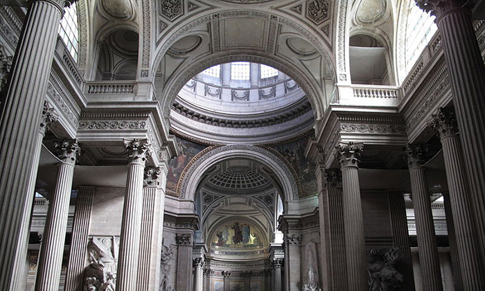 Panthéon de Paris: Interior view.