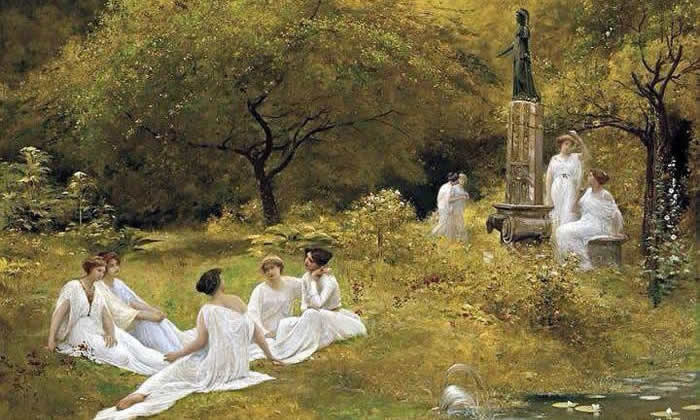 Lionel Noel Royer: The Muses Garden, detail.