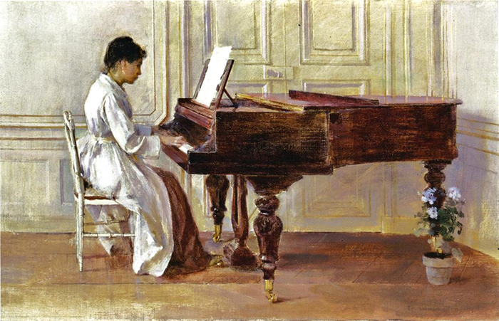 Theodore Robinson: At The Piano, 1887.